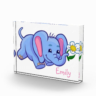 Cute Elephant with Flower Jungle Animal Kids Award