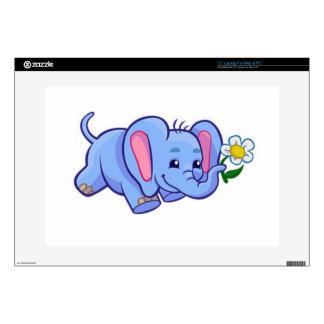 "Cute Elephant with Flower Jungle Animal Kids Skin For 15"" Laptop"