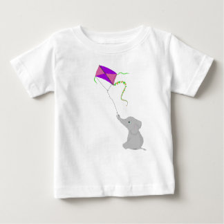 Cute Elephant with Kite Baby T-Shirt