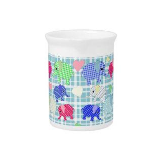 Cute elephants beverage pitcher