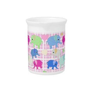 Cute elephants beverage pitcher