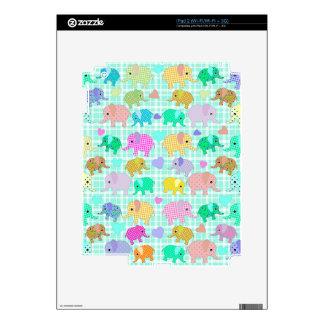 Cute elephants decal for iPad 2