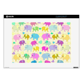 """Cute elephants decals for 15"""" laptops"""