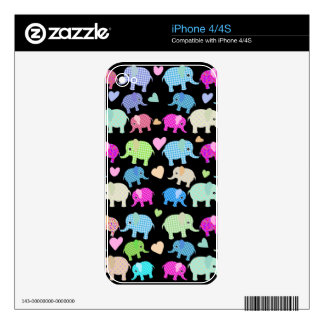 Cute elephants decals for iPhone 4