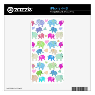 Cute elephants decals for iPhone 4S