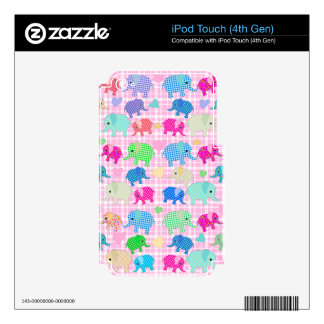 Cute elephants decals for iPod touch 4G