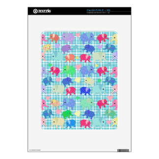 Cute elephants decals for the iPad