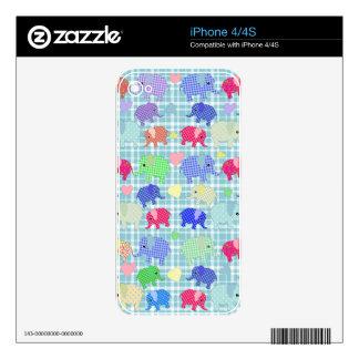 Cute elephants iPhone 4S skins