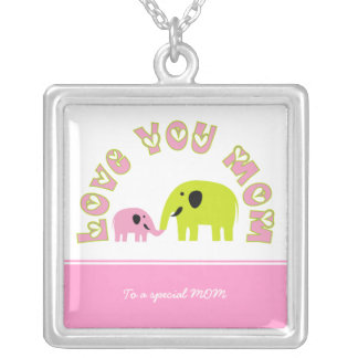 Cute elephants Mother baby girl Mother's Day Gift Custom Jewelry