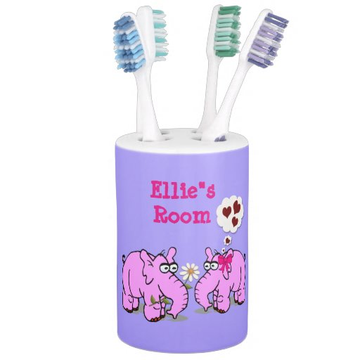 Cute Elephants On Toothbrush Holder Soap Pump Zazzle Toothbrush And Soap Coloring