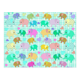 Cute elephants postcard