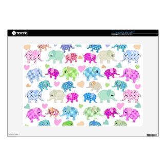 Cute elephants skin for laptop