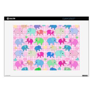 "Cute elephants skins for 15"" laptops"
