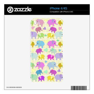 Cute elephants skins for iPhone 4