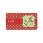 Cute Elf and Christmas Socks Address Label