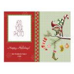 Cute Elf and Christmas Socks Postcards