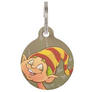 Cute elf pet ID tag