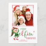 Cute Elf Elfin Christmas Photo Card