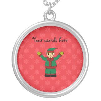 Cute elf red snowflakes pendants