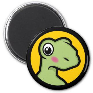 Cute Embarrassed Cartoon Tortoise Novelty Magnet