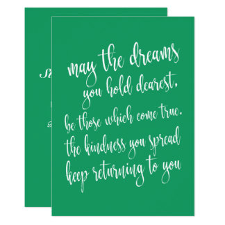 Cute Emerald Green St patrick's Day Party Card