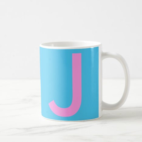 Cute Emo Blue Monogram Travel Coffee Mug