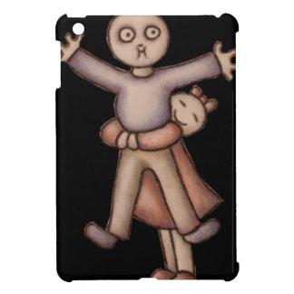 Cute Emo Cartoon of Girl Hugging Boy iPad case