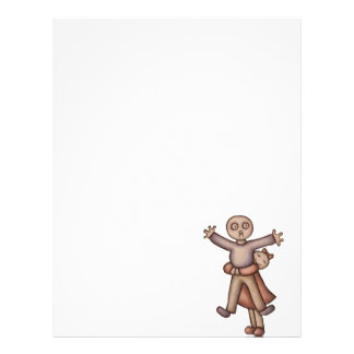 Cute Emo Cartoon of Girl Hugging Boy Letterhead