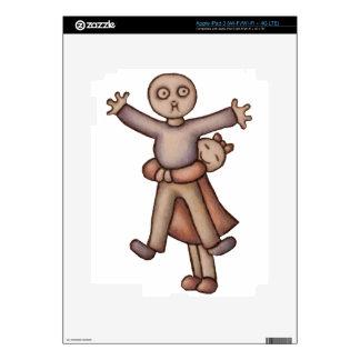 Cute Emo Cartoon of Girl Hugging Boy iPad 3 Skins