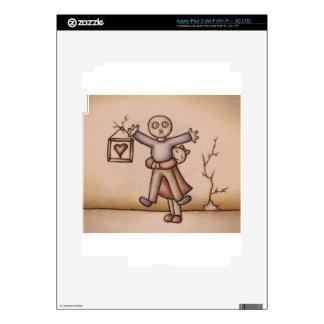 Cute Emo Cartoon of Girl Hugging Boy Skin For iPad 3