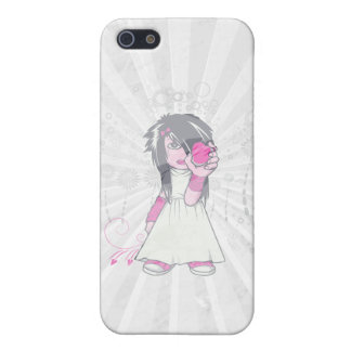 cute emo girl holding heart vector art iPhone SE/5/5s cover