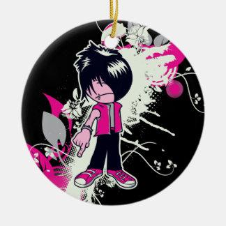 cute emo kid christmas ornament