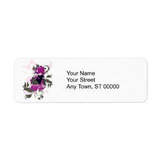 cute emo kid sitting on a flower label