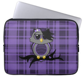 Cute Emo Owl and Plaid 13