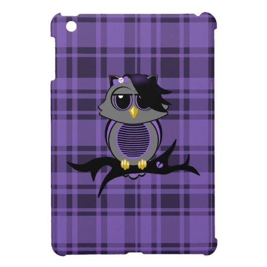 Cute Emo Owl and Plaid iPad Mini Case
