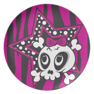 Cute Emo Skull Plate