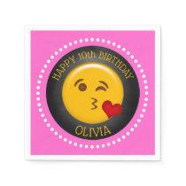 Cute Emoji Birthday Napkin