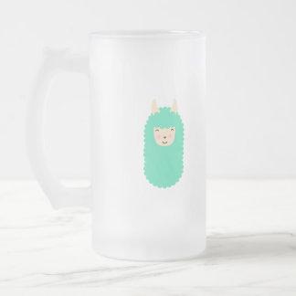 Cute Emoji Llama Frosted Mug