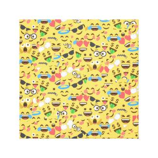 cute emoji love hears kiss smile laugh pattern canvas print