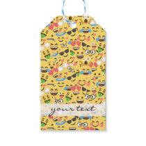 cute emoji love hears kiss smile laugh pattern gift tags