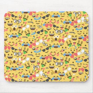 cute emoji love hears kiss smile laugh pattern mouse pad