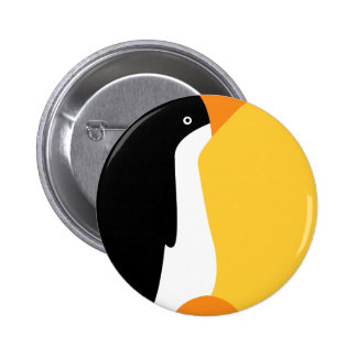 Cute Emperor Penguin Cartoon on Badge Name Tag 2 Inch Round Button