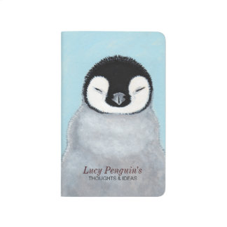 Cute Emperor Penguin Chick Thoughts & Ideas Journal
