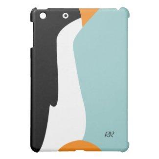 Cute Emperor Penguin cartoon on an iPad Mini Case