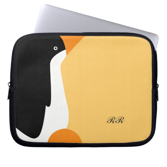 Cute Emperor Penguin Laptop Bag