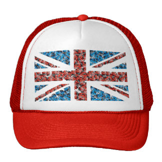 Cute England flag Cartoon Ladybugs Insects funny Trucker Hat