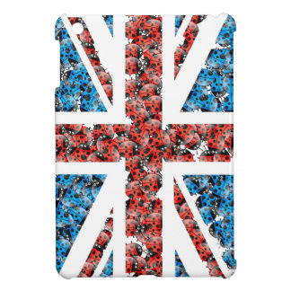 Cute England flag Cartoon Ladybugs Insects funny iPad Mini Cases