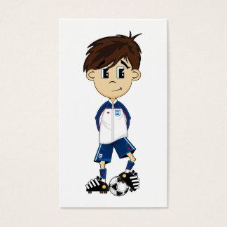 Cute England Soccer Boy Bookmark Business Card