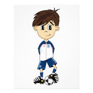 Cute England Soccer Boy Flyer