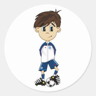 Cute England Soccer Boy Sticker
